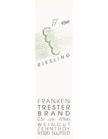 1993 Riesling Tresterbrand -Holzfaßgelagert-